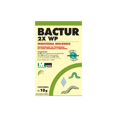 Insecticida biologico Bactur 2X WP 10g JED