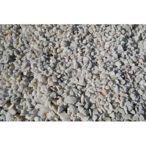 White marble crushed gravel  big bag