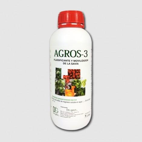 Abono biologico y fluidificante Agros3 1 lt