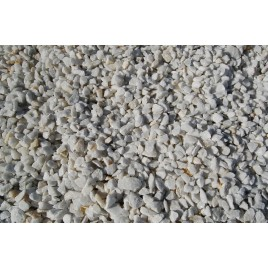 White marble crushed gravel 25 kg bag