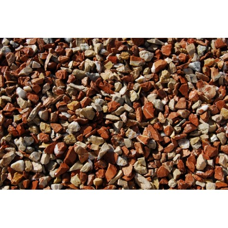 Crushed Gravel in big bag coralito marble