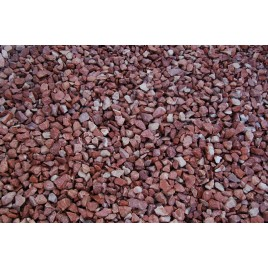 Alicante red marble crushed gravel in 25kg bag